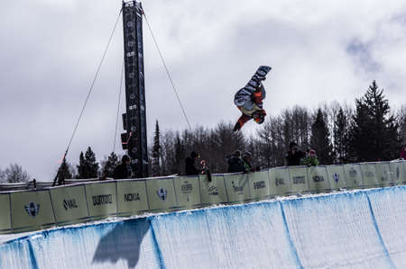 halfpipe: Burton US Open Snowboarding Championship Half Pipe Jan Sherrer