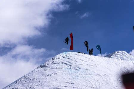Burton US Open Snowboarding Championship Slopestyle Snowboarder Editorial
