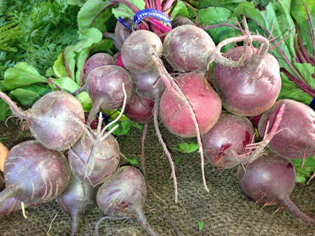 Fresh beets from farmers market.
