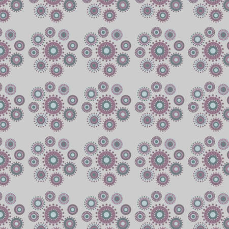 pastel shades: Delicate pattern of abstract flowers in pastel shades