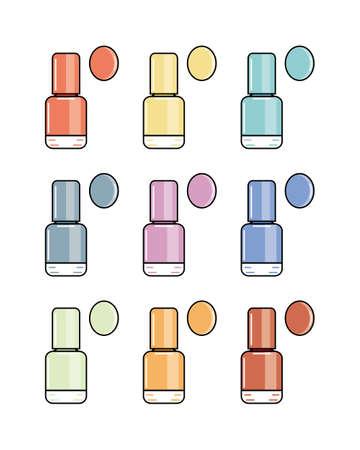 pastel shades: Nine simple icons nail polish in pastel shades