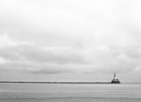 lake michigan lighthouse: Faro de Chicago