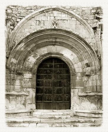 portico: Portico Poblet Monasterio