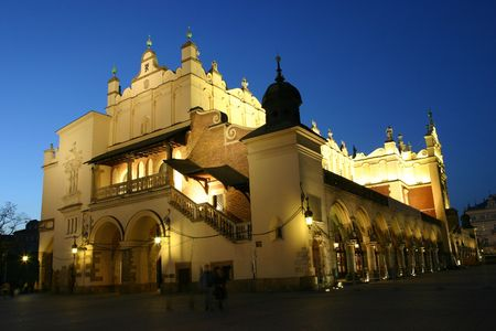 The Cloth Hall by night in Krakow Stock Photo - 1222793