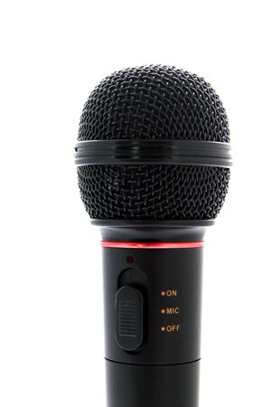 amplify: Microphone on a white background