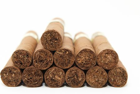 pleasure craft: Cuban cigars Stock Photo