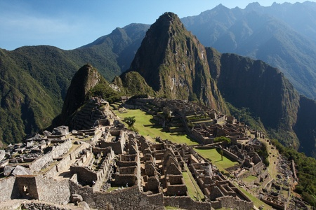 incan: Machu Picchu, the ancient Inca city in the Andes, Peru Stock Photo