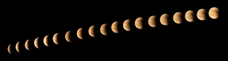 The cycle of moon eclipse phases photo