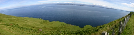 isle: Panorama at Outer Hebrides from Isle of Skye