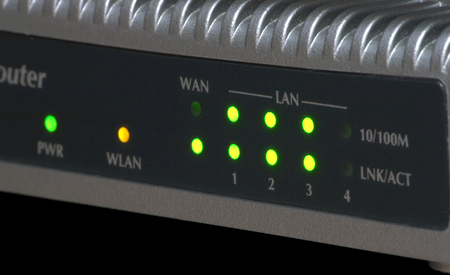Ethernet 10100 Mbps WiFi router control panel