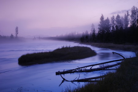 madison: dreamy madison river at dawn