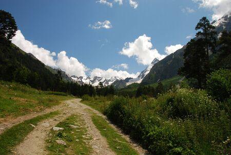 sou:  The road in ravine of Adyl sou int is 2500m above sea lewel. north caucasus, july 2009