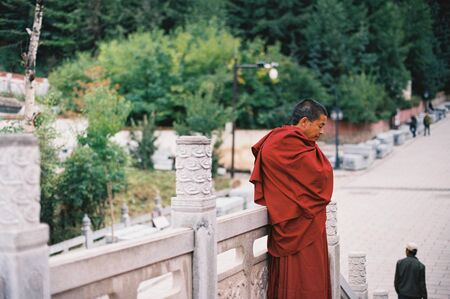 deep thought: the monk having deep thought