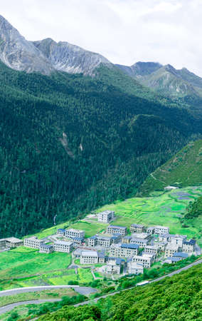Daocheng Yading Village Stock Photo