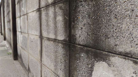 smirch: Wall of an old house Made of brick blocks.Horizontal pictures