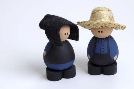 amish: Amish Farmer and Wife Dolls Stock Photo