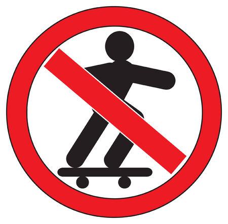 no skateboarding sign Vector