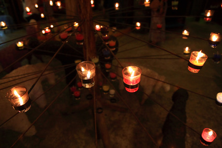 ratchaburi: aromatic candles in ratchaburi thailand