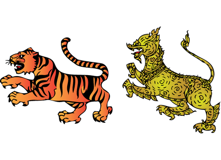 문학의: 태국의 문학에서 호랑이와 사자