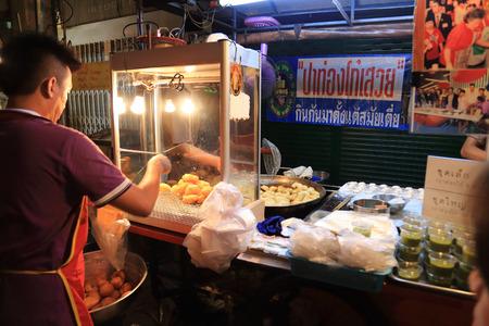 food shop: Deep-fried doughstick shop in Yaowarat Road Chaina town of Bangkok