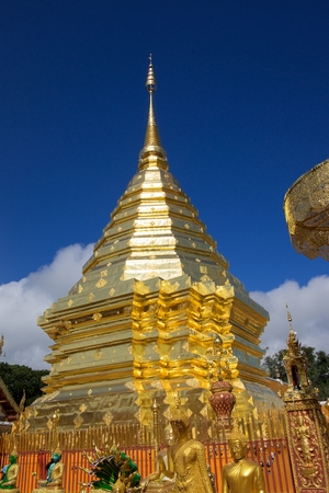 Wat Pha That Doi Suthep in Chiengmai, Thailand Stock Photo
