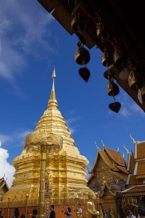 CHIANG MAI, THAILAND - October 27, 2016: Wat Pha That Doi Suthep Temple, Wat Phra That Doi Suthep is a Theravada buddhist temple near Chiang Mai, Thailand