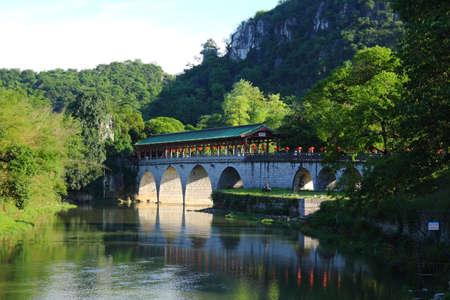 Guilin ancient bridge Stock Photo
