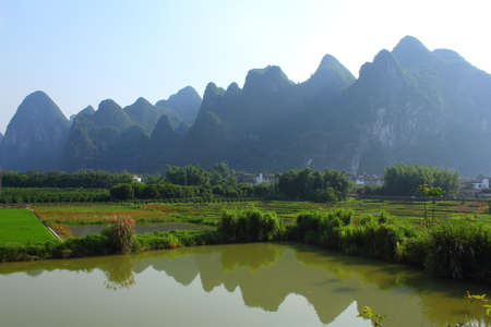 Guilin  landscape scenery view Stock Photo
