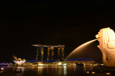 Singapore merlion Park Editorial