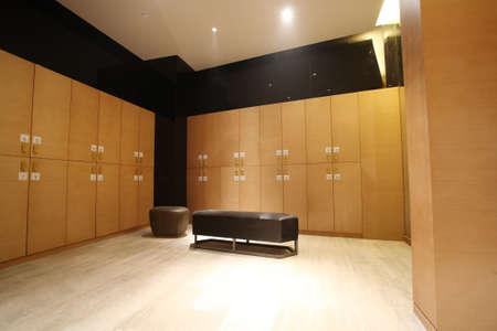 Hotels locker room, indoor photos