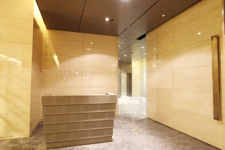 front office: Office Reception Desk, door decoration design, interior decoration