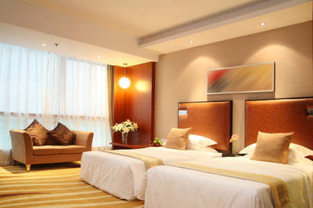 Hotel room photos, standard room, decorative design photo