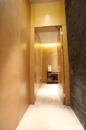 Simple modern interior pictures, hotel room access Stock Photo