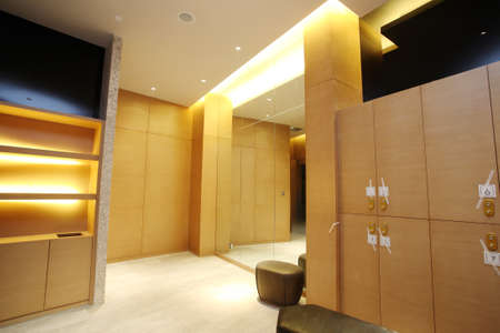 perspectiva lineal: Hay sala de gabinete, vestuarios