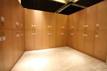 Interior photos, hotel changing rooms