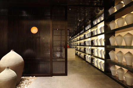 Japanese restaurant interior photographs, unique style, decorative design