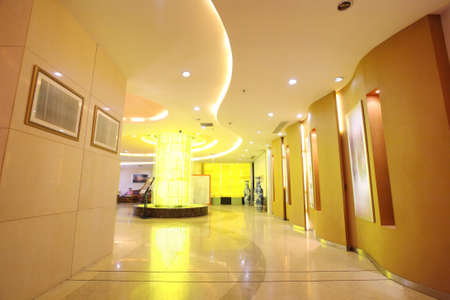 Hotel lobby,the curve of the modern style