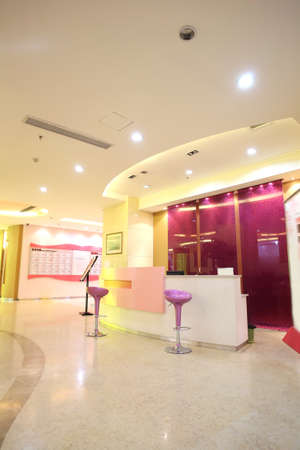 Bright and spacious indoor reception hall