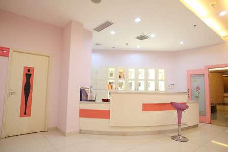Indoor reception area,within hospitals