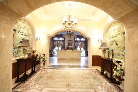 evening light, spacious indoor hall, decorative design