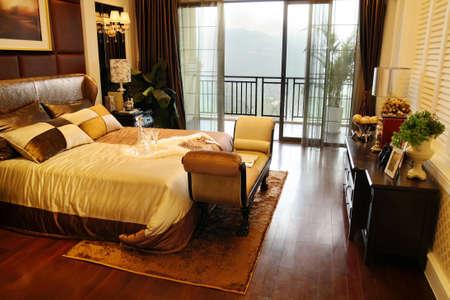A beautiful bedroom villa photos Stock Photo
