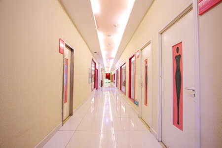 public hospital: Bright interior corridors, perspective gallery
