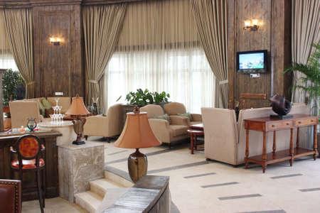 Club-house environment, senior leisure club photo, interior decoration