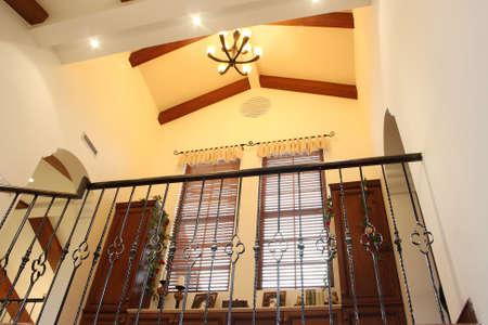 corridors: Indoor lighting corridors, villas internal Stock Photo