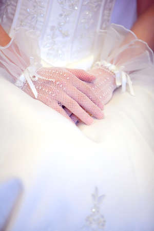 married couples: The beautiful bride, the body part, taken in wedding