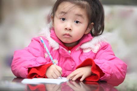 Lovely children are doing homework, education, picture