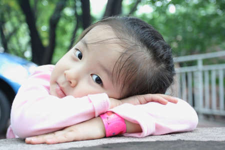 beautiful photos of children in asia, portrait Stock Photo - 12017238