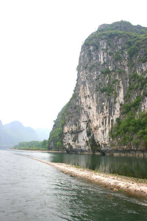 imperturbable: Mountain view in Li River cruise, Guilin, China