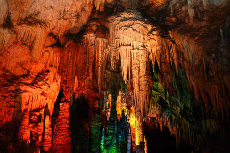 carbonate: Stone with beautiful colors in the cave Stock Photo