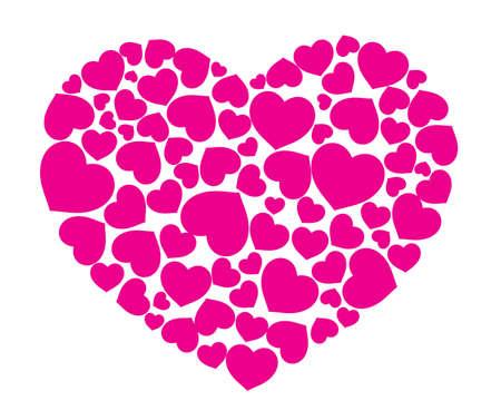 Red patrón de corazones, tema, logotipo abstracto Foto de archivo - 12302109